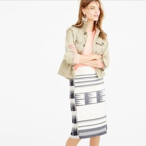 J Crew Collection Blanket Pencil Skirt